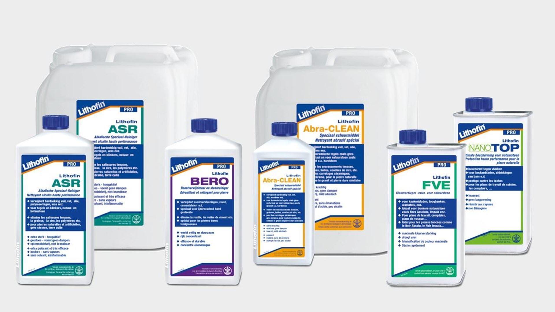 Afbeelding voor categorie LITHOFIN PRO-lijn : producten voor professioneel gebruik