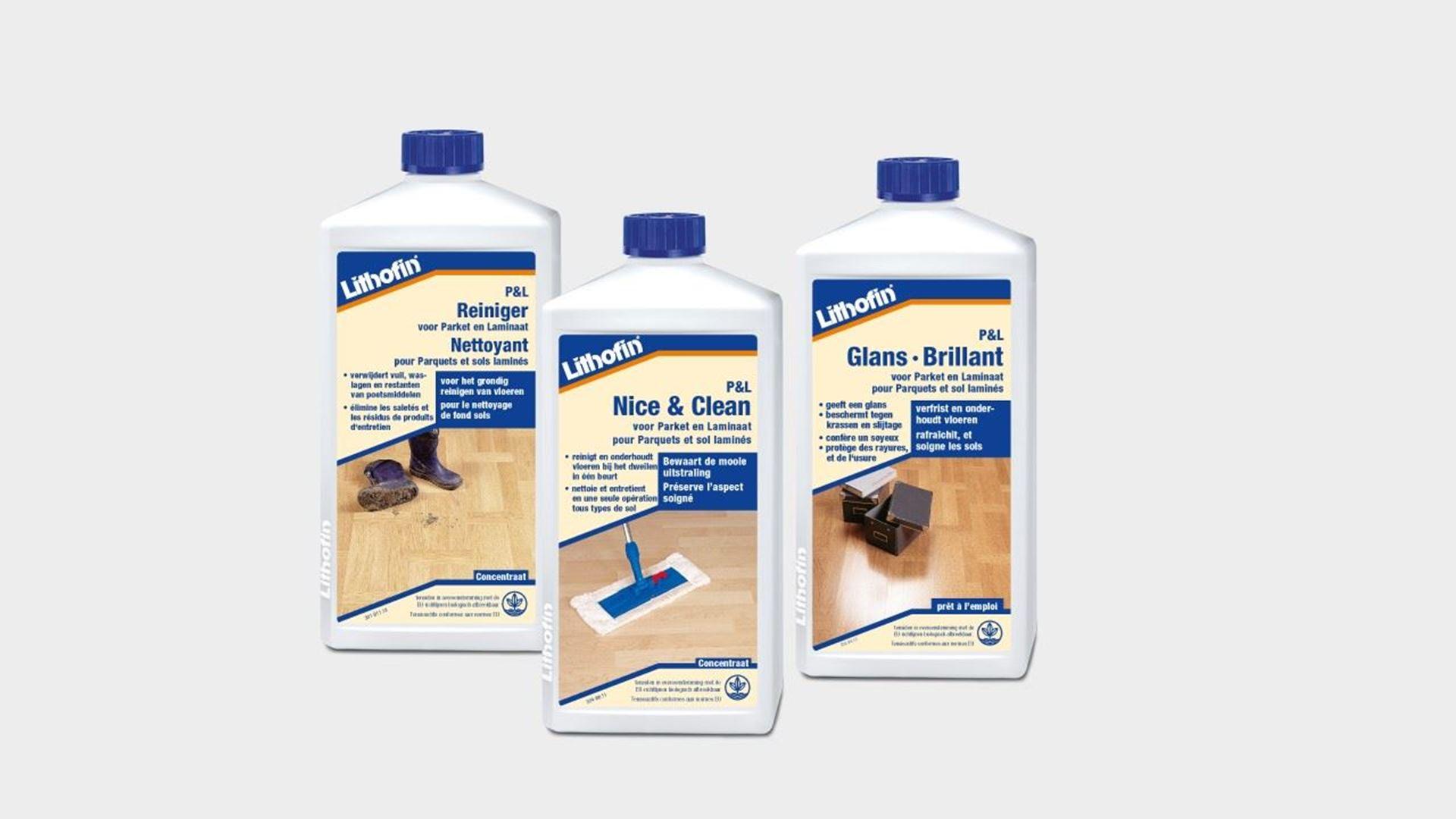 Image de la catégorie produits LITHOFIN pour sols en parquet et laminat - Ligne PL