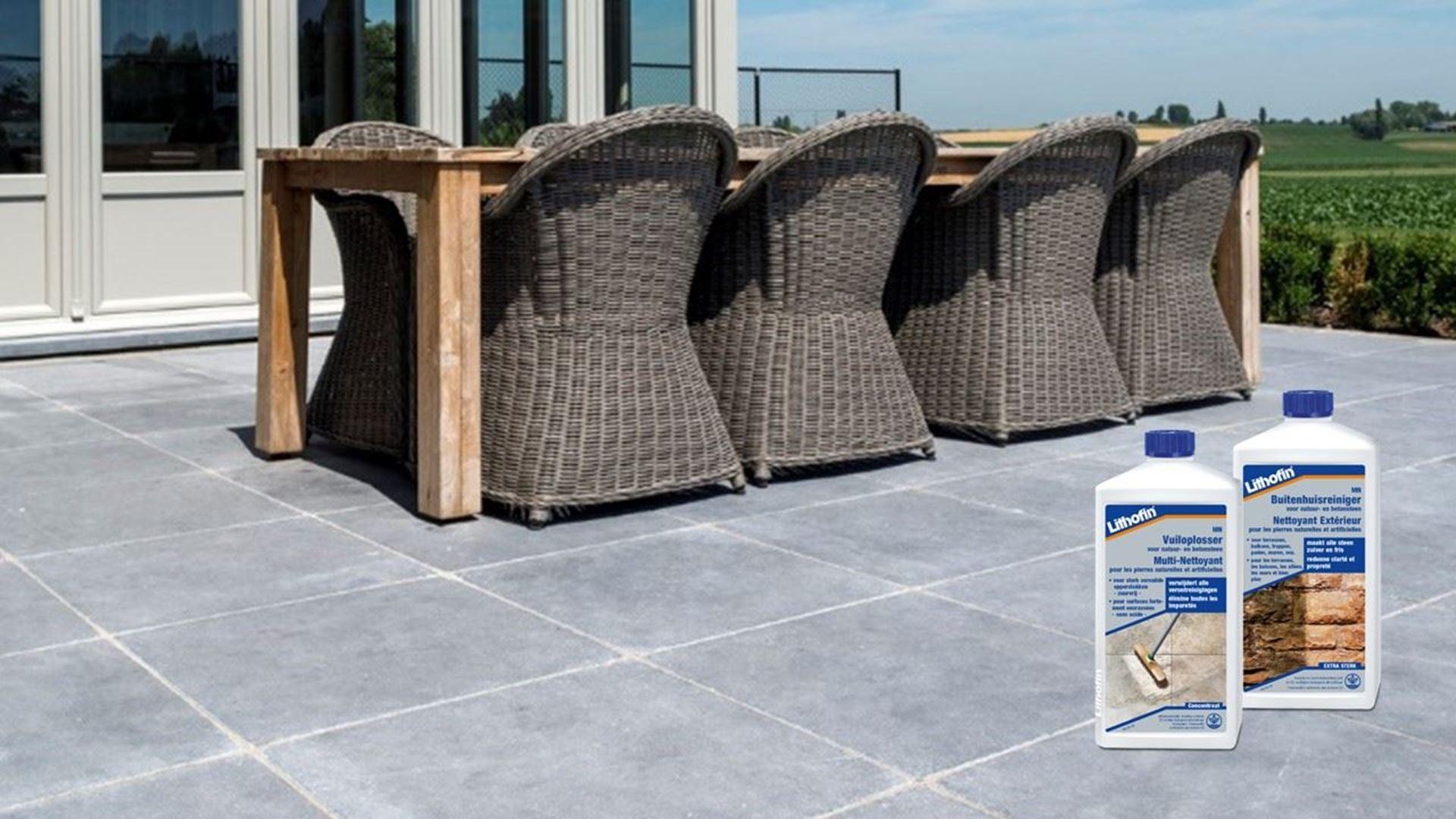 Afbeelding voor categorie Onderhoud van Terrassen in Blauwe Hardsteen