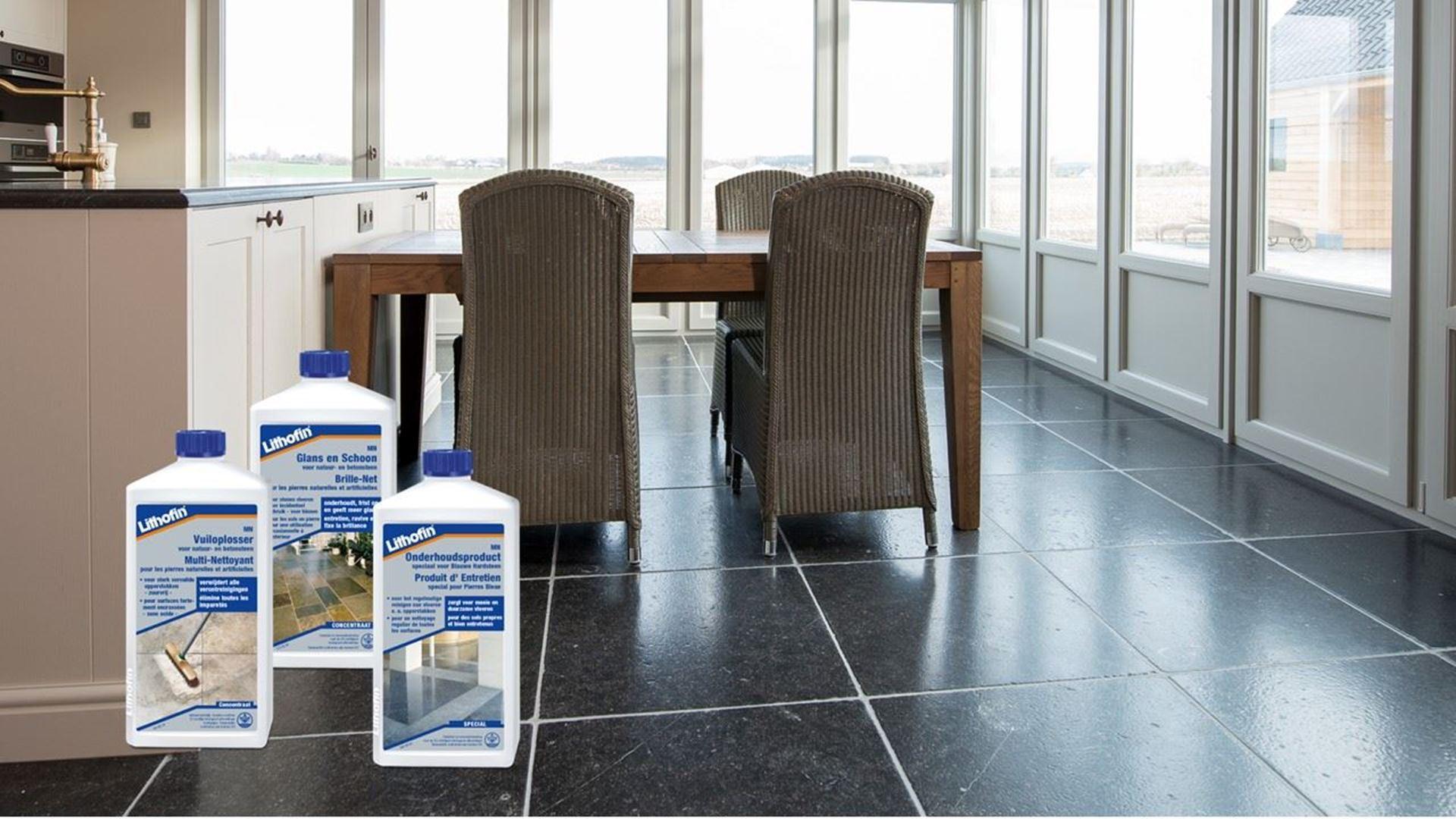 Afbeelding voor categorie Onderhoud Vloeren in blauwe hardsteen