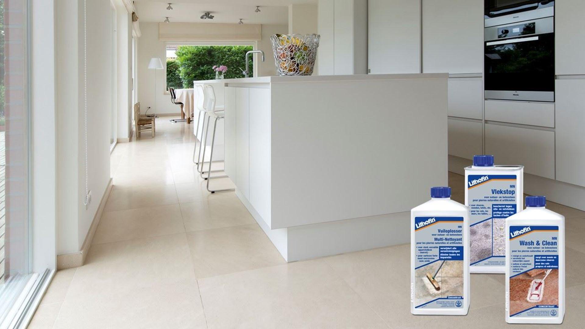 Afbeelding voor categorie Onderhoud Vloeren in Kalksteen