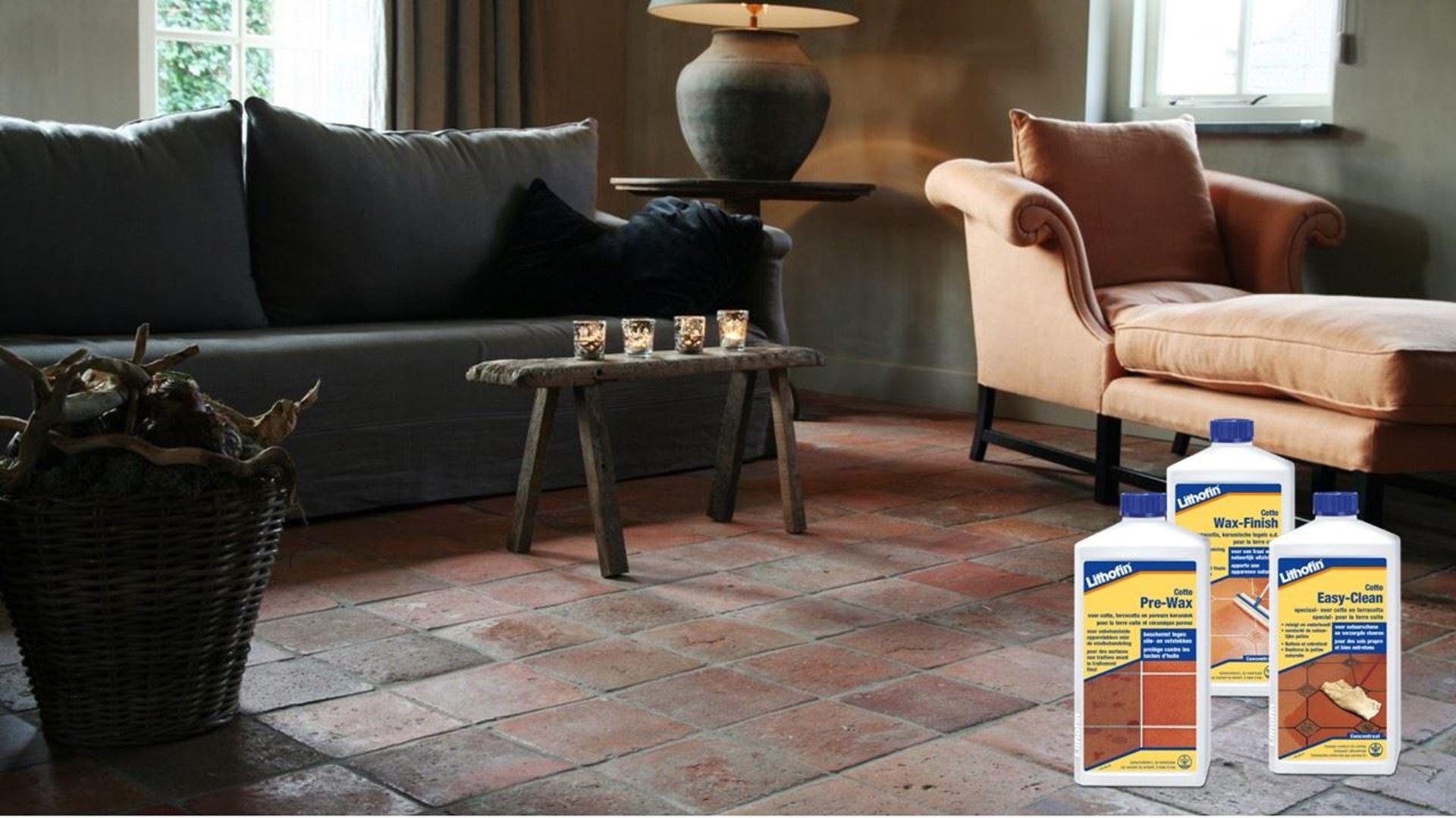 Afbeelding voor categorie Onderhoud Vloeren in Terracotta Tegels