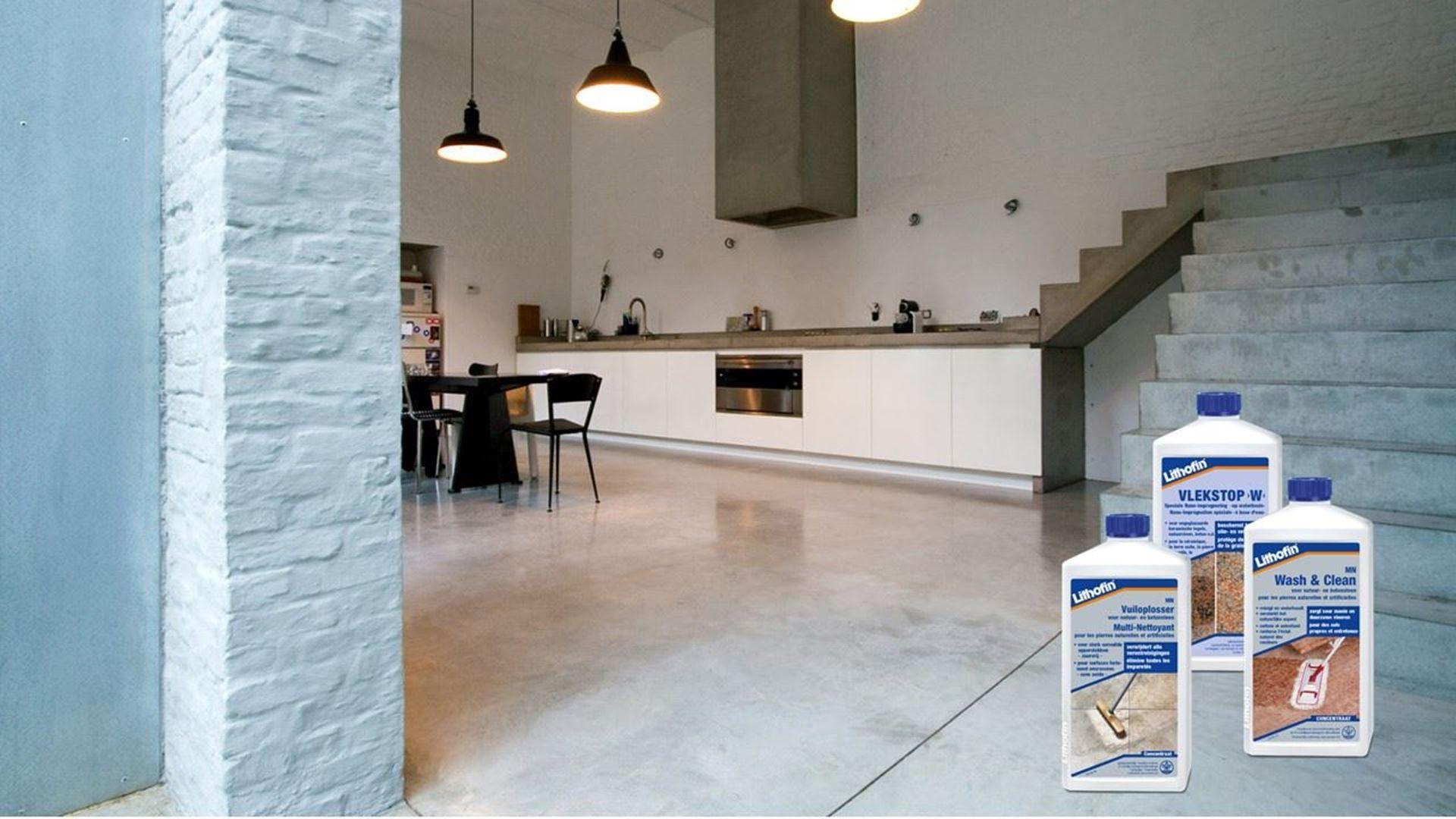 Afbeelding voor categorie Onderhoud Vloeren in gepolijst Beton