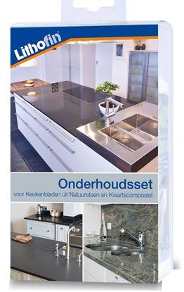 Afbeeldingen van Lithofin Onderhoudsset voor Werkbladen in Natuursteen en Composiet